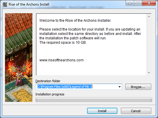 Rise of the Archons Install